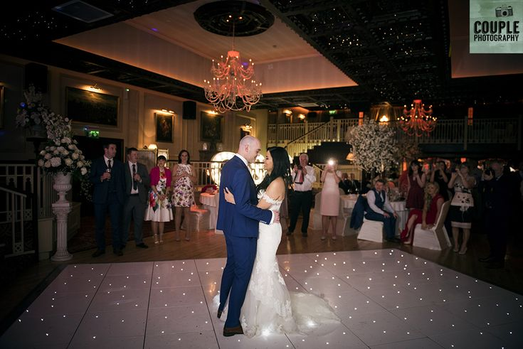 The first dance of the newlyweds. Weddings at Cabra Castle photographed by Couple Photography.