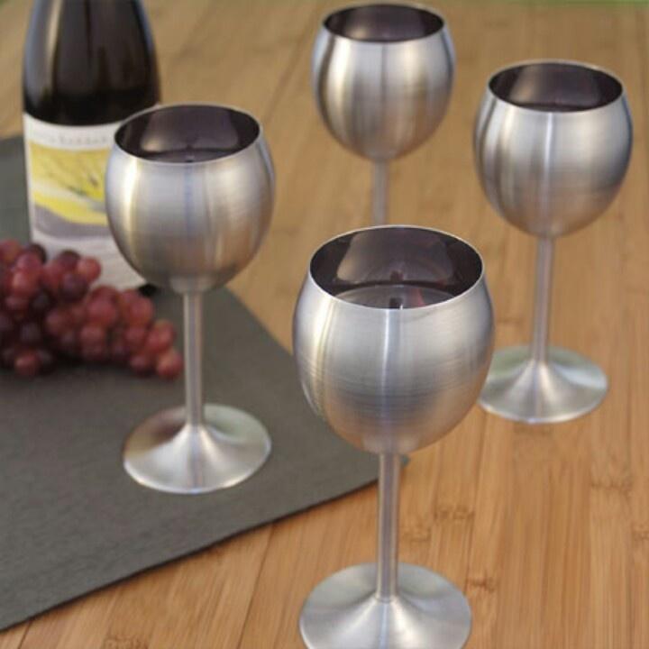 Metal wine glasses :)