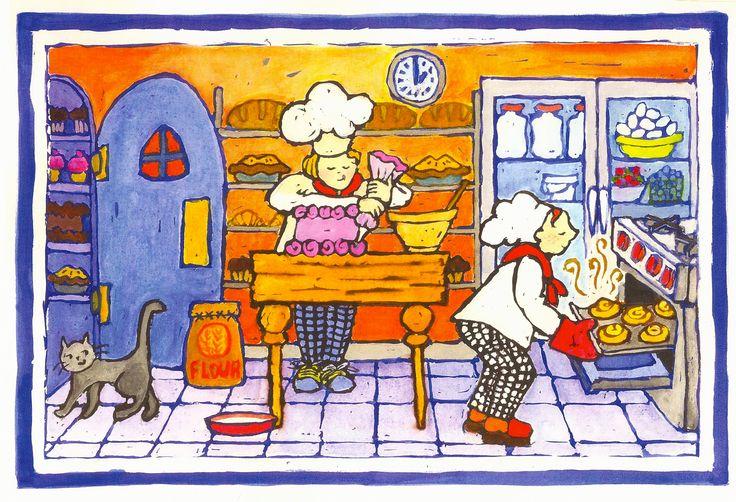Praatplaat bakker / bakery