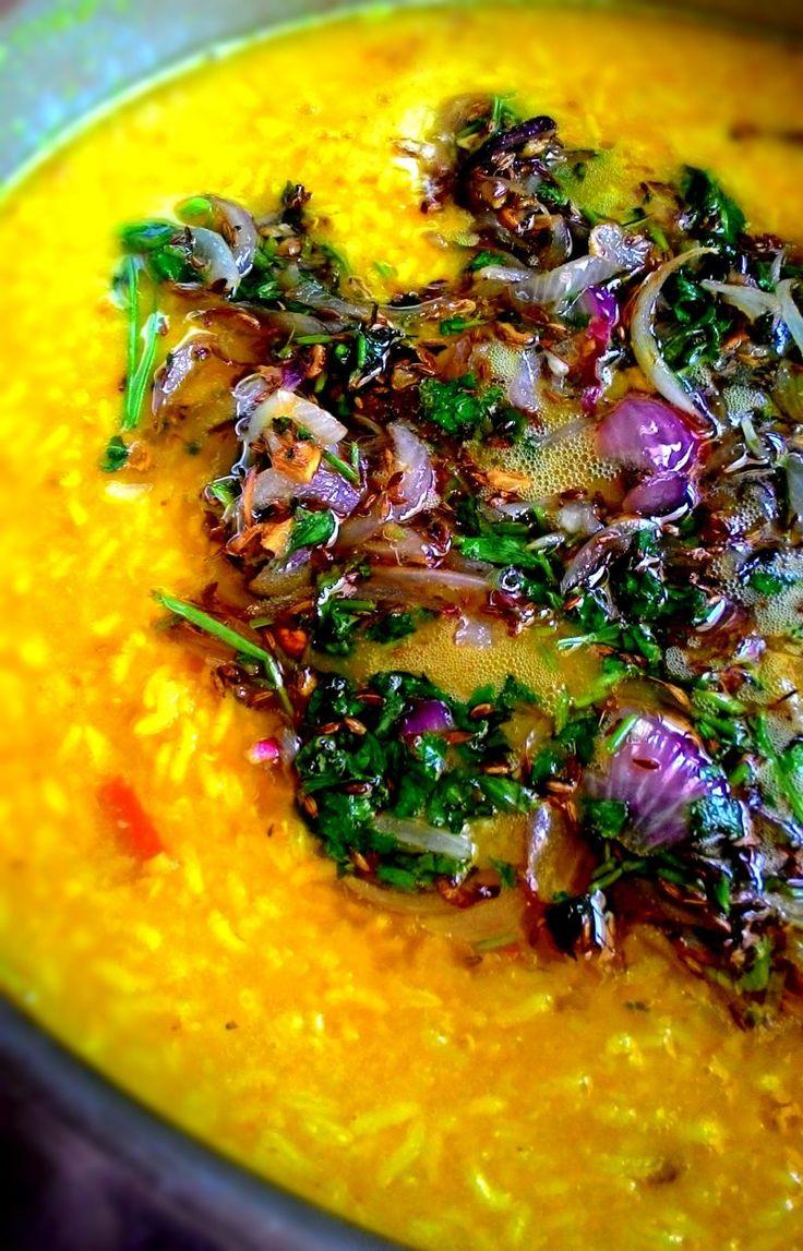 Onion-Garlic Masoor Dal Khichdi – Onion-Garlic Mixed Lentils and Rice Porridge Recipe at: https://thetastesofindia.com/khichdi/