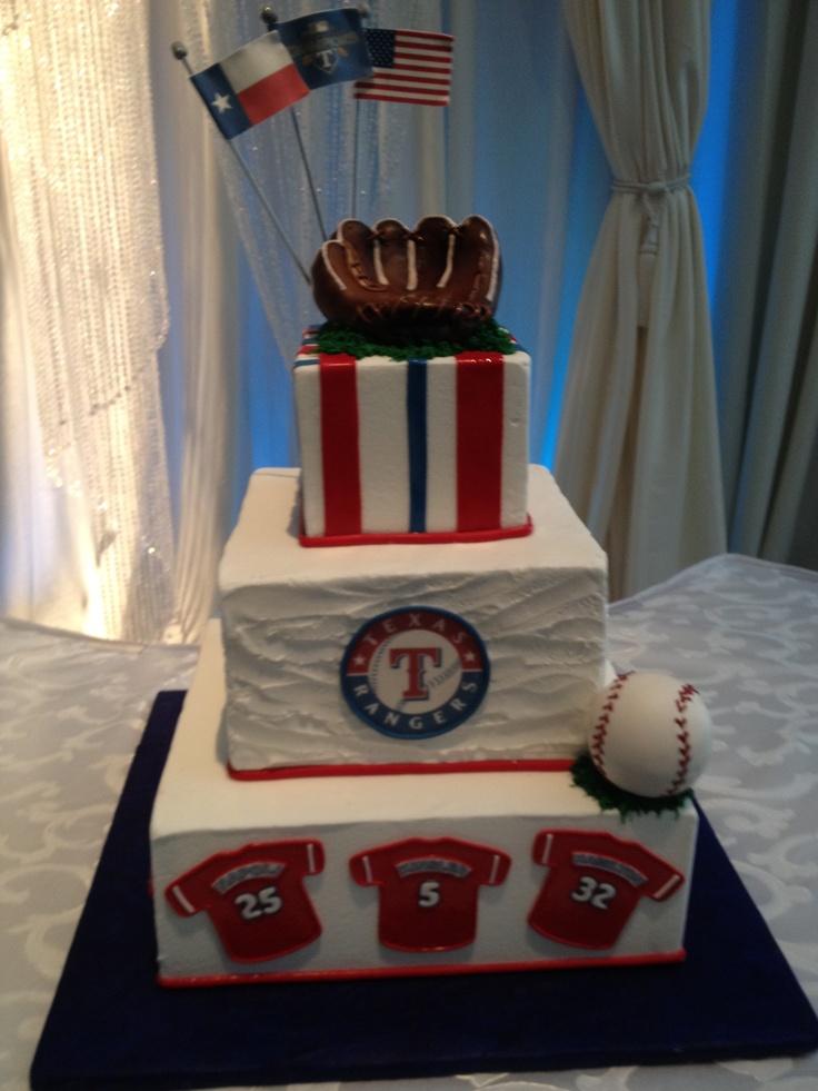 Texas Rangers Groom's Cake--- yay! creme de la creme!!!!