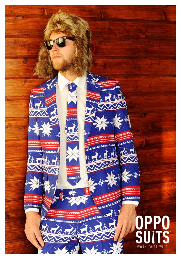 It's quilted, it's festive, it's fabulous. What else is there to say. #UglyChristmasSweater #Opposuits