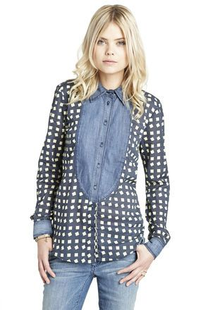 Randomly obsessing over this mixed-material denim blouse. And I don't even do jerts... BCBGeneration
