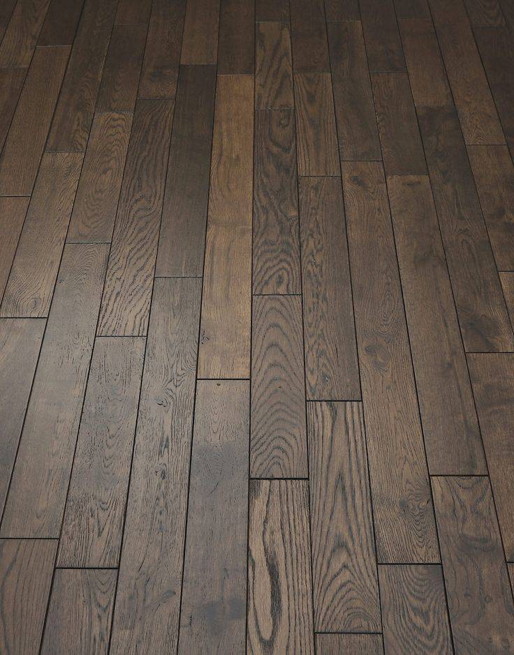 Espresso Oak Brushed & Lacquered Solid Wood Flooring
