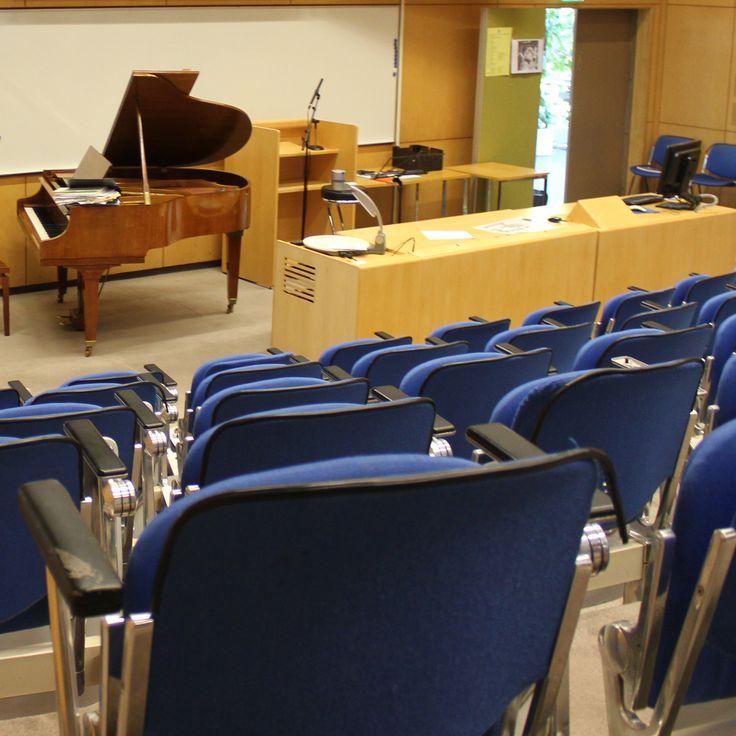 Satapäisille yleisöille kunnon luennointitilat löytyvät auditoriostamme tai palloiluhallistamme.