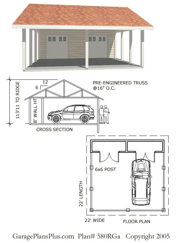 25 best ideas about carport plans on pinterest carport for How big is a standard two car garage