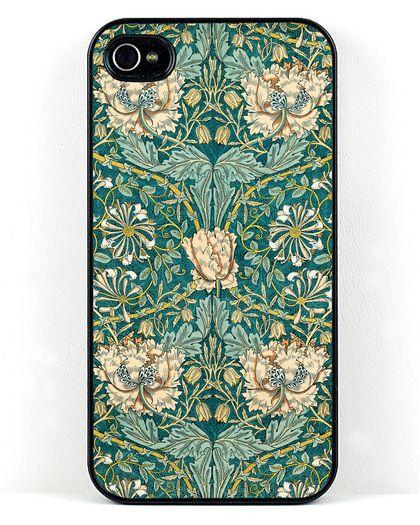 Honeysuckle iPhone Case // William Morris Arts and Crafts motif
