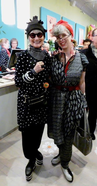 Gudrun Sjöden opens a shop in New York - look at those two hip ladies