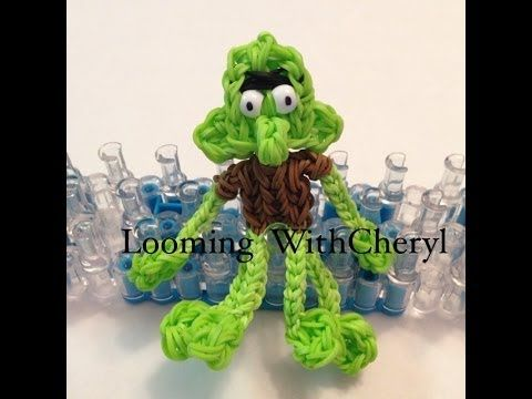 SQUIDWARD Rainbow Loom - Character from SpongeBob. I used Neon green for the body choose your colour. Looming WithCheryl. Tutorial is Now on YouTube! Gomas. Figures Charms. Please Subscribe ❤️❤ m.youtube.com/user/LoomingWithCheryl