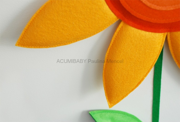 ACUMIBABY - a unique spatial felt wall stickers. High-quality, handmade, recycled PET and eco friendly decorations on the walls in your childs room. Unique, unusual color palette and precise handwork. hand-made, high-quality, unique colors, unique pieces