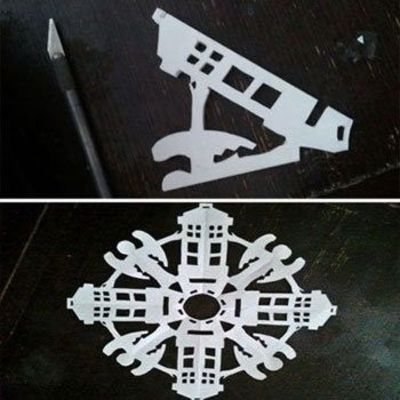Doctor Who TARDIS/Weeping Angels Snowflakes #DIY #snowflakes ...