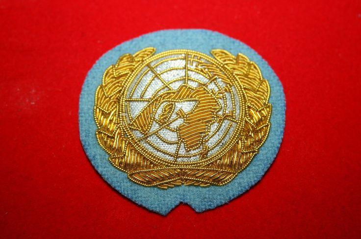 UN UNITED NATIONS U.N. OFFICER'S BERET BADGE BULLION WIRE Khalida Embroidery Works Cotact Us: khalidaeworks@gamil.com Ph:+92-315-7880152
