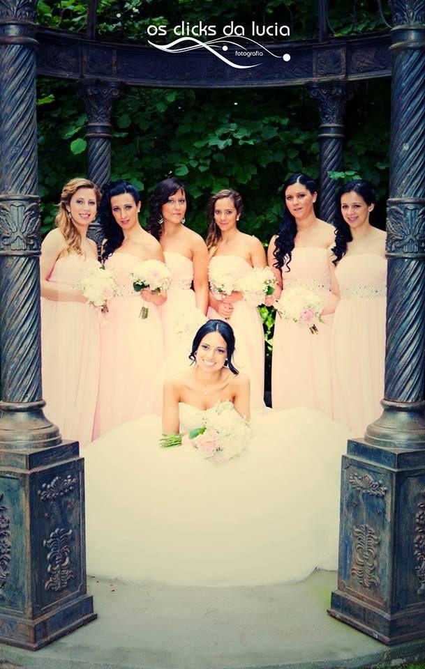 Noiva com as damas de honor