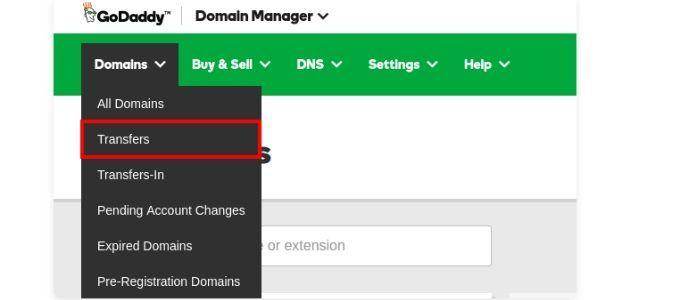 Domain Select Transfer Domain Godaddy Transfer