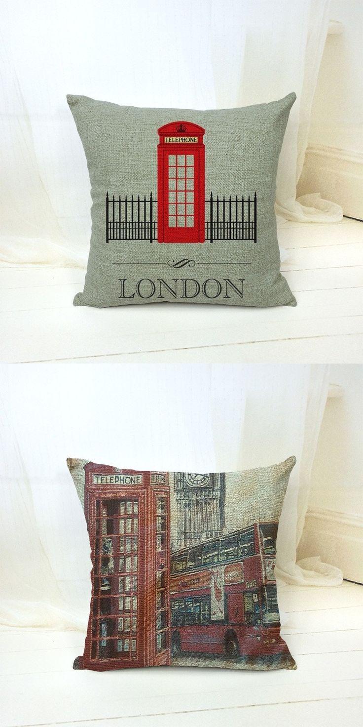 "18"" Design Telephone Bus Decorative Pillow Kussens Home Decor Cushions Coussin Cuscini Cojines Pouf Almofada Scandinavian Futon $9.99"