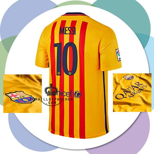 les nouvelle de messi nouveau maillot fc barcelone 2016 ext rieur prix usine maillot foot pas. Black Bedroom Furniture Sets. Home Design Ideas
