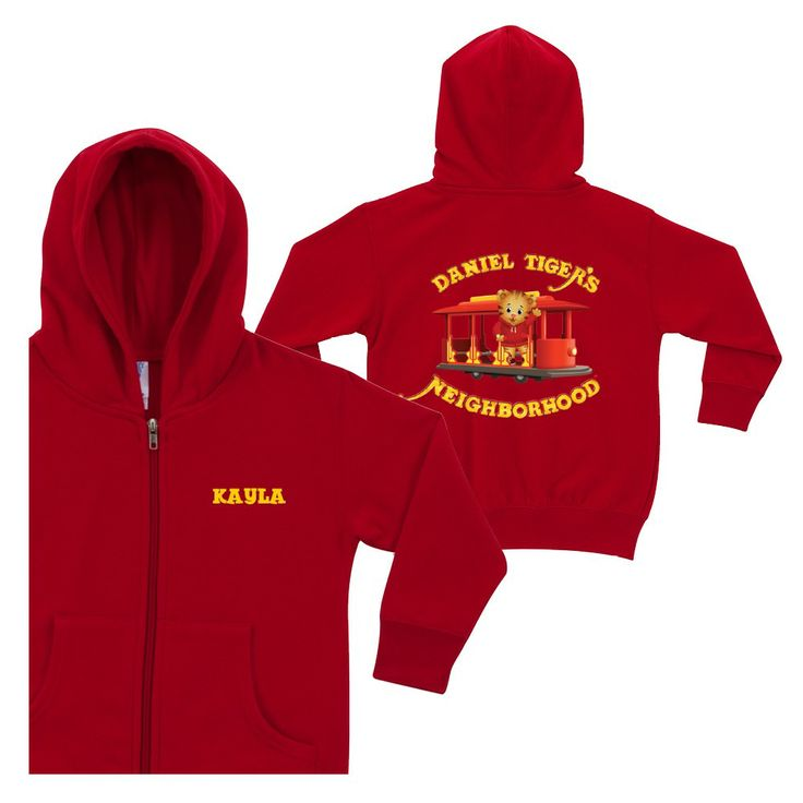 Daniel Tiger's Neighborhood Red Zip-Up Hoodie from PBS Kids Shop