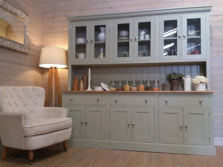 New Huge 7ft Solid Pine Welsh Dresser Kitchen Unit Shabby Chic Painted Ebay