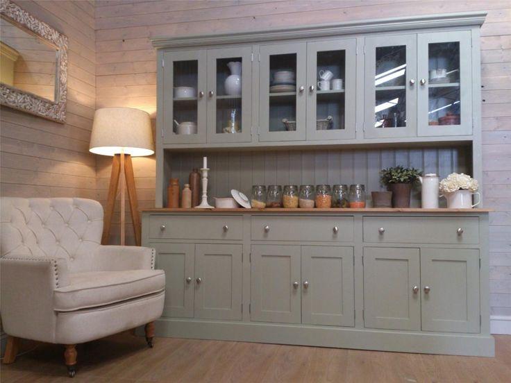 New Huge 7ft Solid Pine Welsh Dresser Kitchen Unit Shabby Chic Painted | eBay