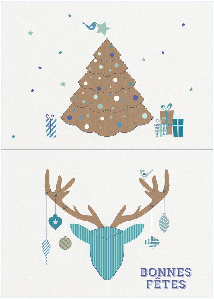 Des cartes pop-up à imprimer pour les fêtes de fin d'année - Femme Actuelle