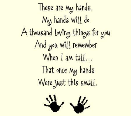 25+ best ideas about Handprint poem on Pinterest | Footprints poem ...
