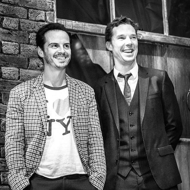 Andrew Scott & Benedict Cumberbatch at the Bright Young Things Gala.