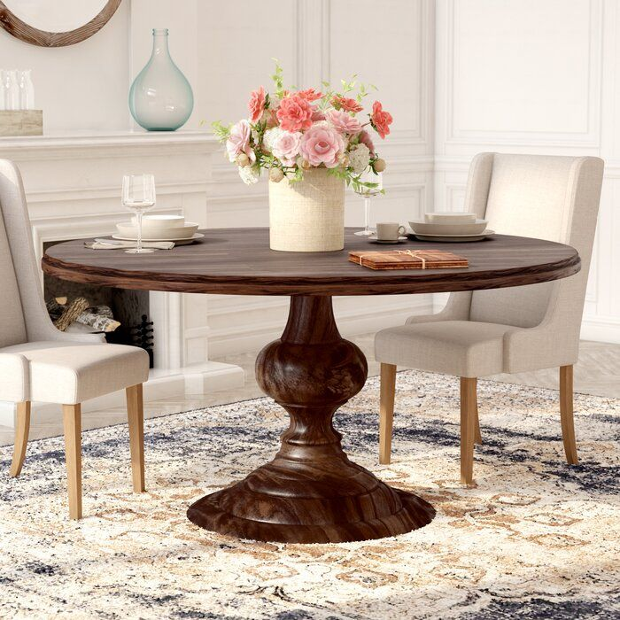 Hoyt Solid Wood Dining Table In 2020 With Images Solid Wood