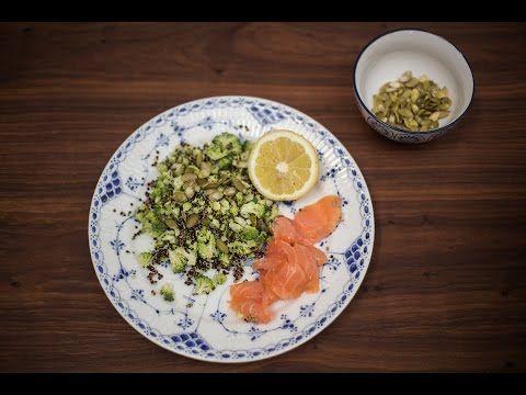 5:2 Kuren - Aftensmad: Røget laks med broccoli-quinoasalat på 431 kalorier