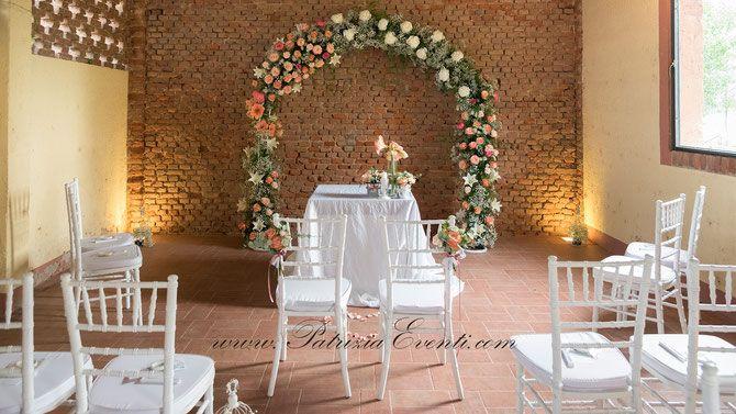 Arco Floreale - Matrimonio a Dimora Fiamberta - Certosa di Pavia - by Patrizia Eventi