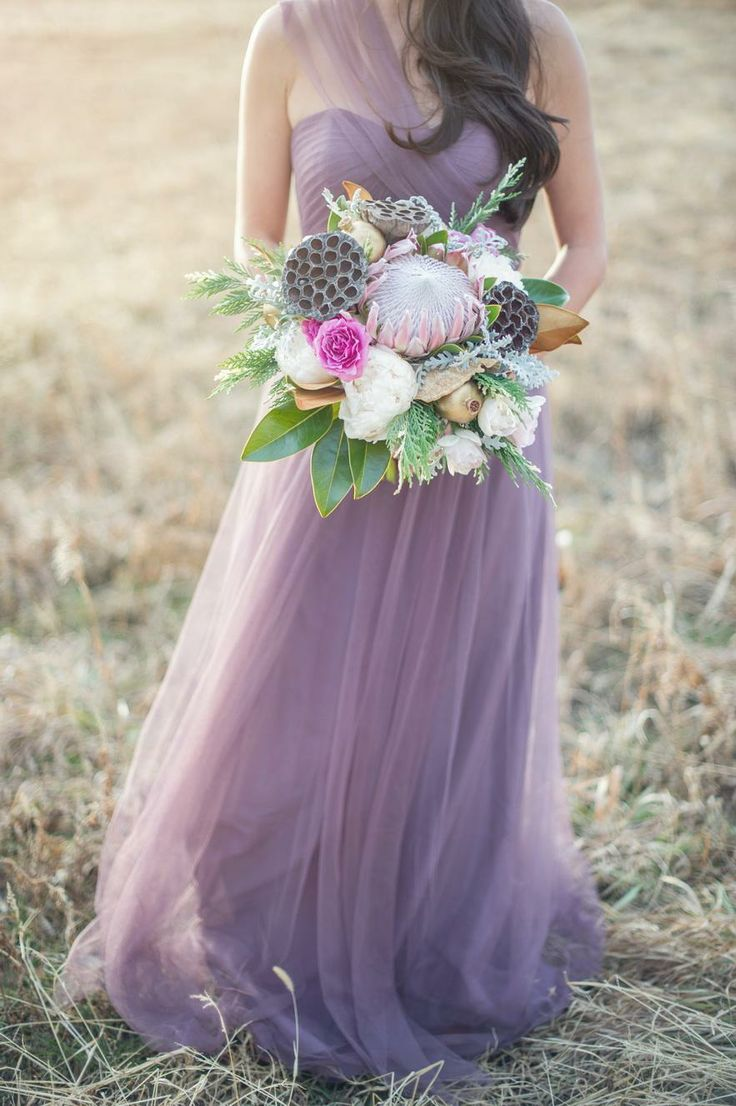 The Annabelle Dress from BHLDN in Plum looks divine in this bohemian wedding shoot