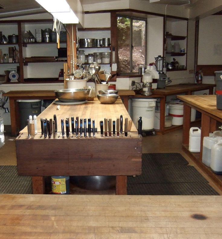 Kitchen at Green Gulch Farm | Farmhouse kitchen cabinets ...