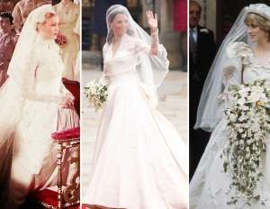 Royal wedding dresses through the years - ASSOCIATED PRESS; KAI PFAFFENBACH/Newscom/Reuters; Chris Jackson/Getty Images