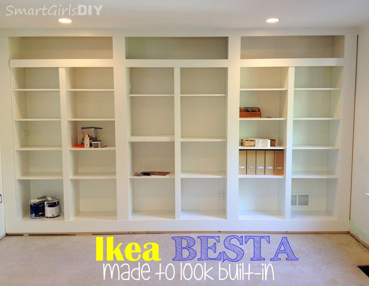 Ikea Besta system made to look built-in -- DIY!