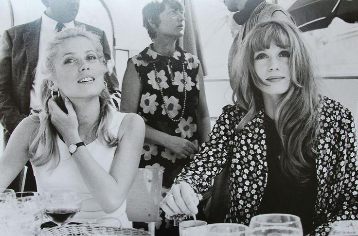 Catherine Deneuve and Françoise Dorléac at the Cannes Film Festival, 1965