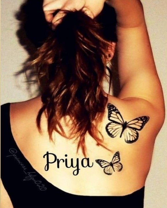 Pin By Priya On Priya Shoulder Tattoos For Women Butterfly Tattoo Cool Tattoos