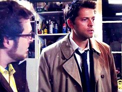 Castiel meets the Ghostfacers // That eye roll is just fucking priceless, heh. His annoyed face slays me <3