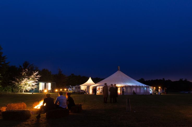 LPM Bohemia Traditional Circular Tent by night.
