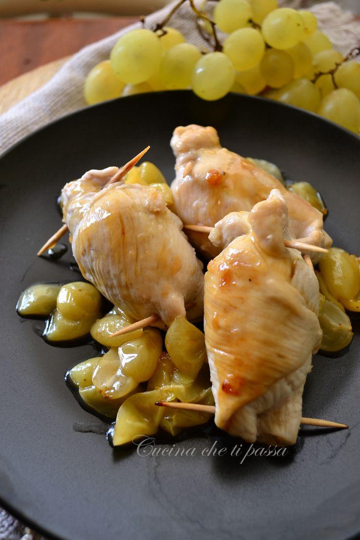 involtini di pollo e uva ricetta (4)