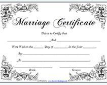 vintage free printable marriage certificates