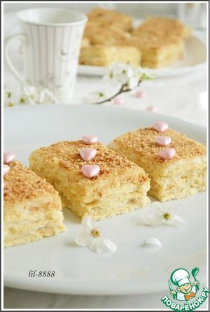 Нежное пирожное с карамельным кремомрецепты с пошаговыми фотографиями…