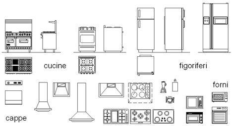 cucine 2D - componenti cucina dwg (4)