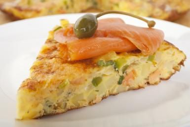 Serve this Easy Elegant Crustless Quiche for Your Next Brunch: Crustless Smoked Salmon Quiche