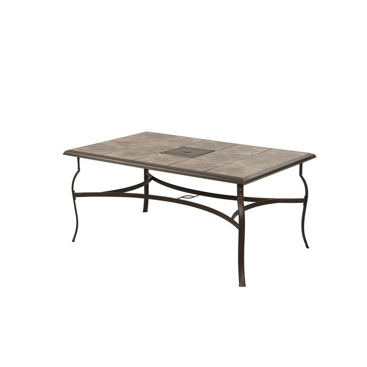 Hampton Bay Belleville Rectangular Patio Dining Table FTS80635   The Home  Depot. $143.10 On