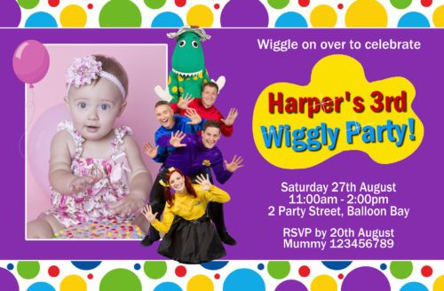 Personalised Wiggles Dorothy THE Dinosaur Tinkerbell Party Birthday Invitations | eBay
