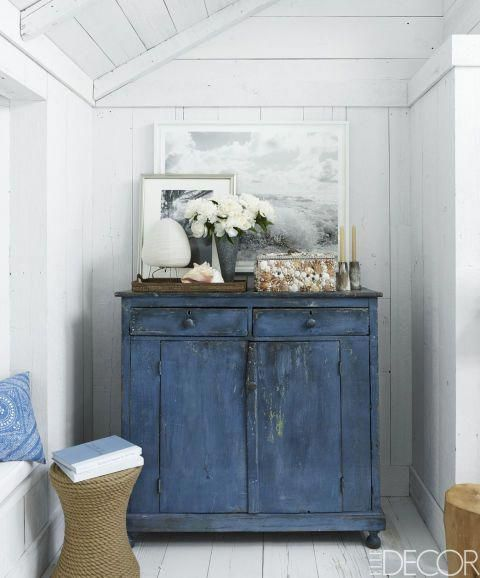 Ralph Lauren Hamptons Room: A Vintage Chest Is Nestled Into A Narrow Corner In The