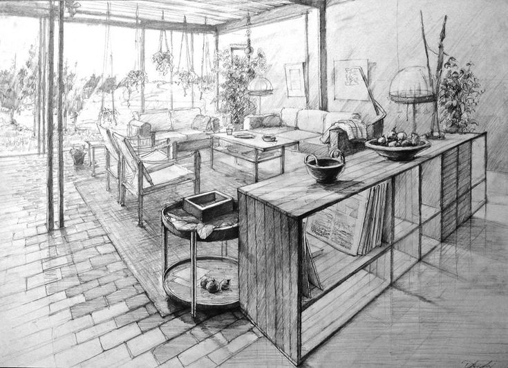 50x70 drawing for kuba studio as an education-inspiration stock for architecture students tool: derwent 2B stylization: second half of last century colaboration through whole serie: Franciszek Matu...