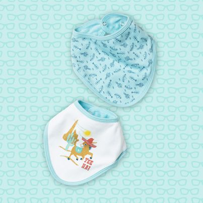 Pumpkin Patch Bandana Bibs 2 pack - 100% cotton http://www.pumpkinpatchkids.com/