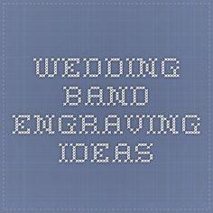 wedding band engraving ideas