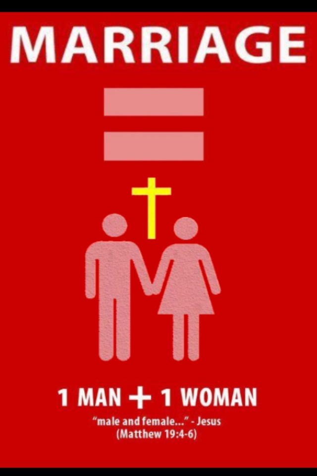 Traditional Marriage. I will not bend and I will not bow. Id take following God over being politically correct EVERY DAY.