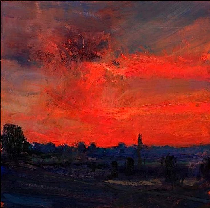 Fontaine Evening XIV Oil on board - Andrew Gifford
